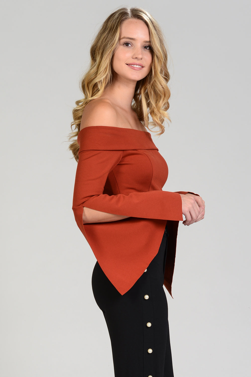 OTS Bell Sleeve Crop Top