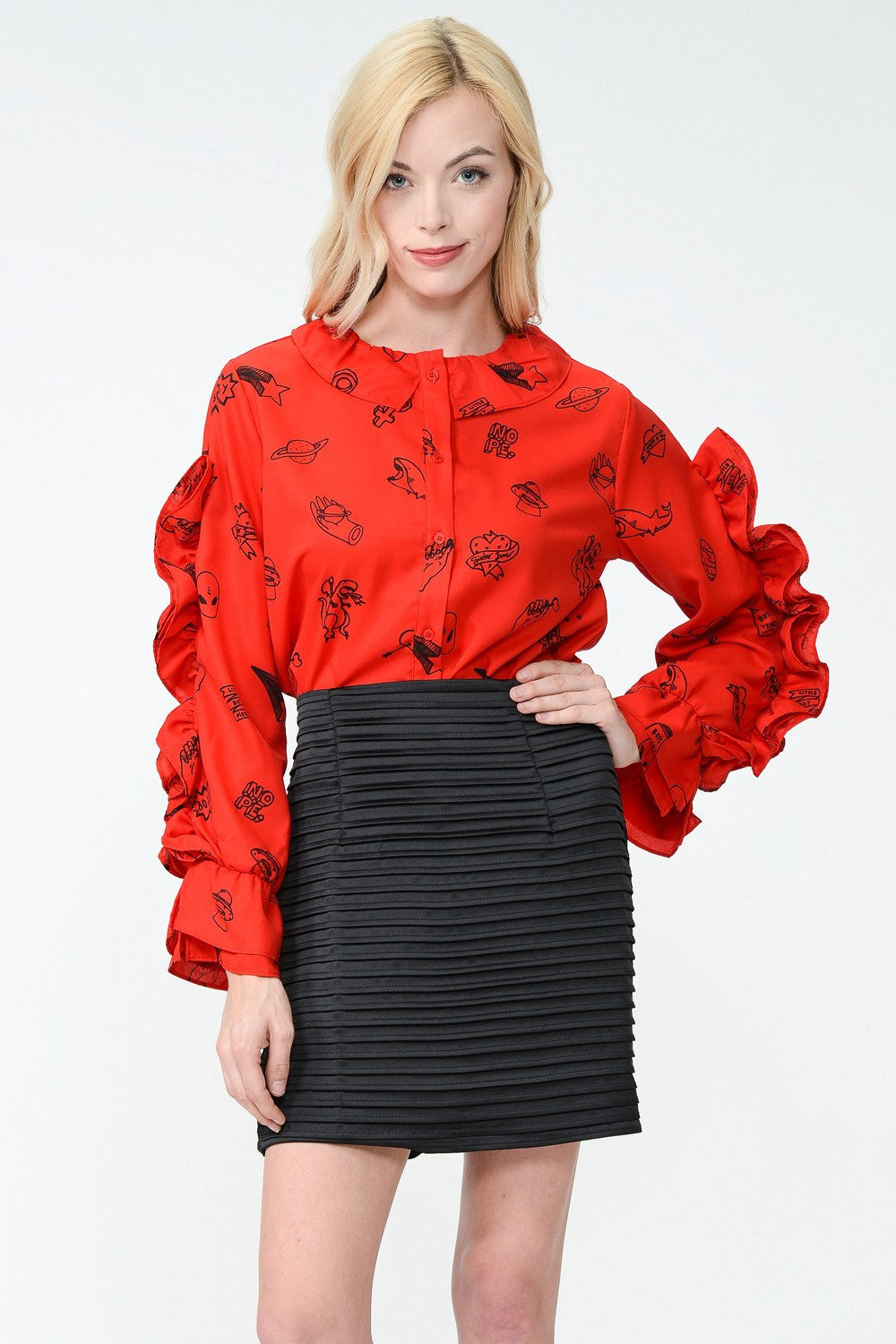 Teen Idol Ruffle Blouse by Sister Jane