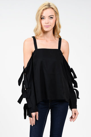 Back Tail Sleeveless Blouse