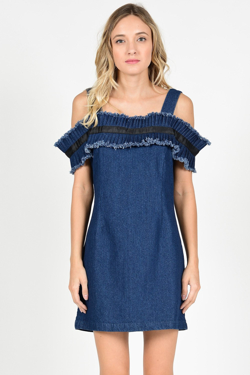 Tie Back Denim dress