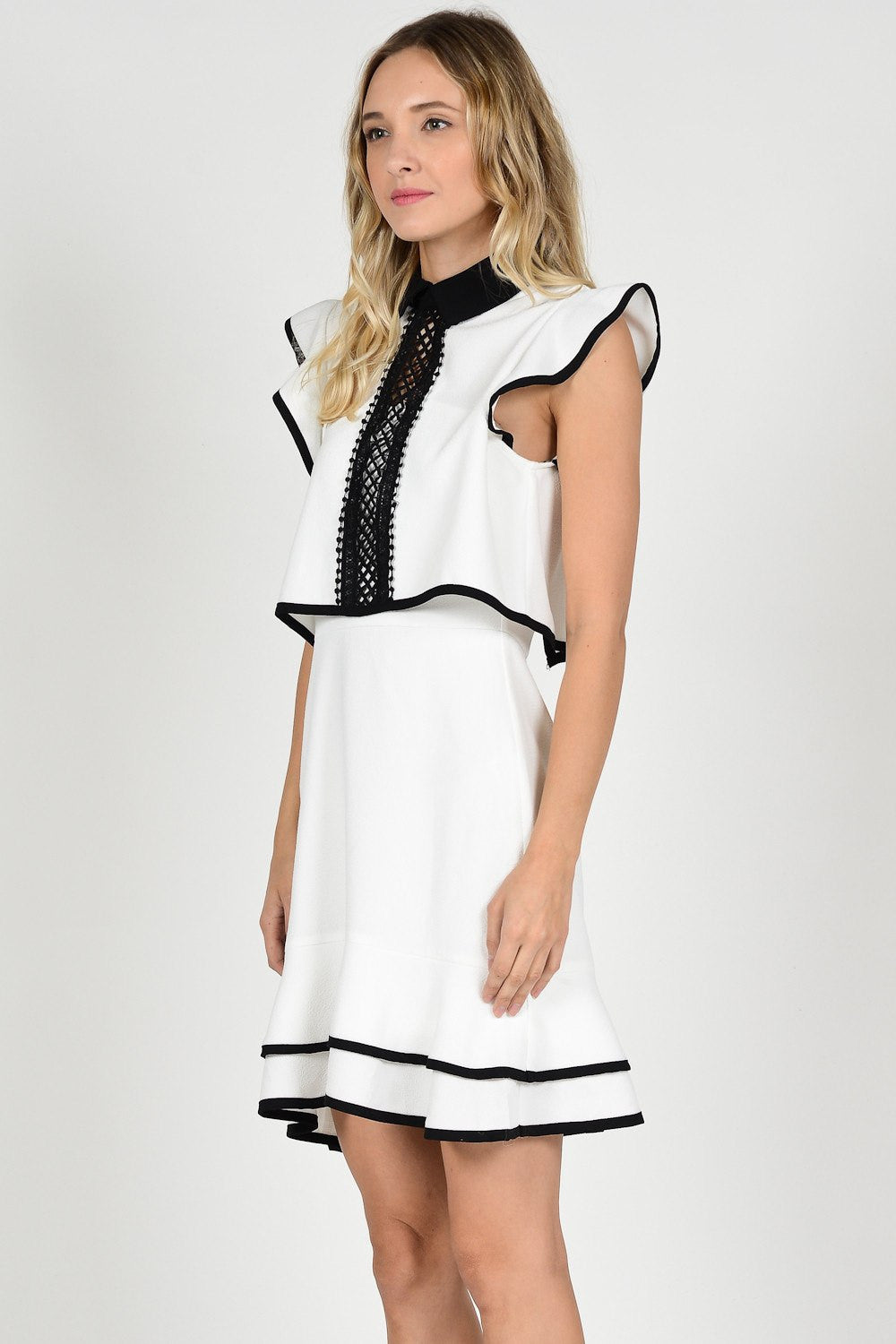 Alina Dress from The Closet Laboratory. Fashion and Apparel. Black and White.