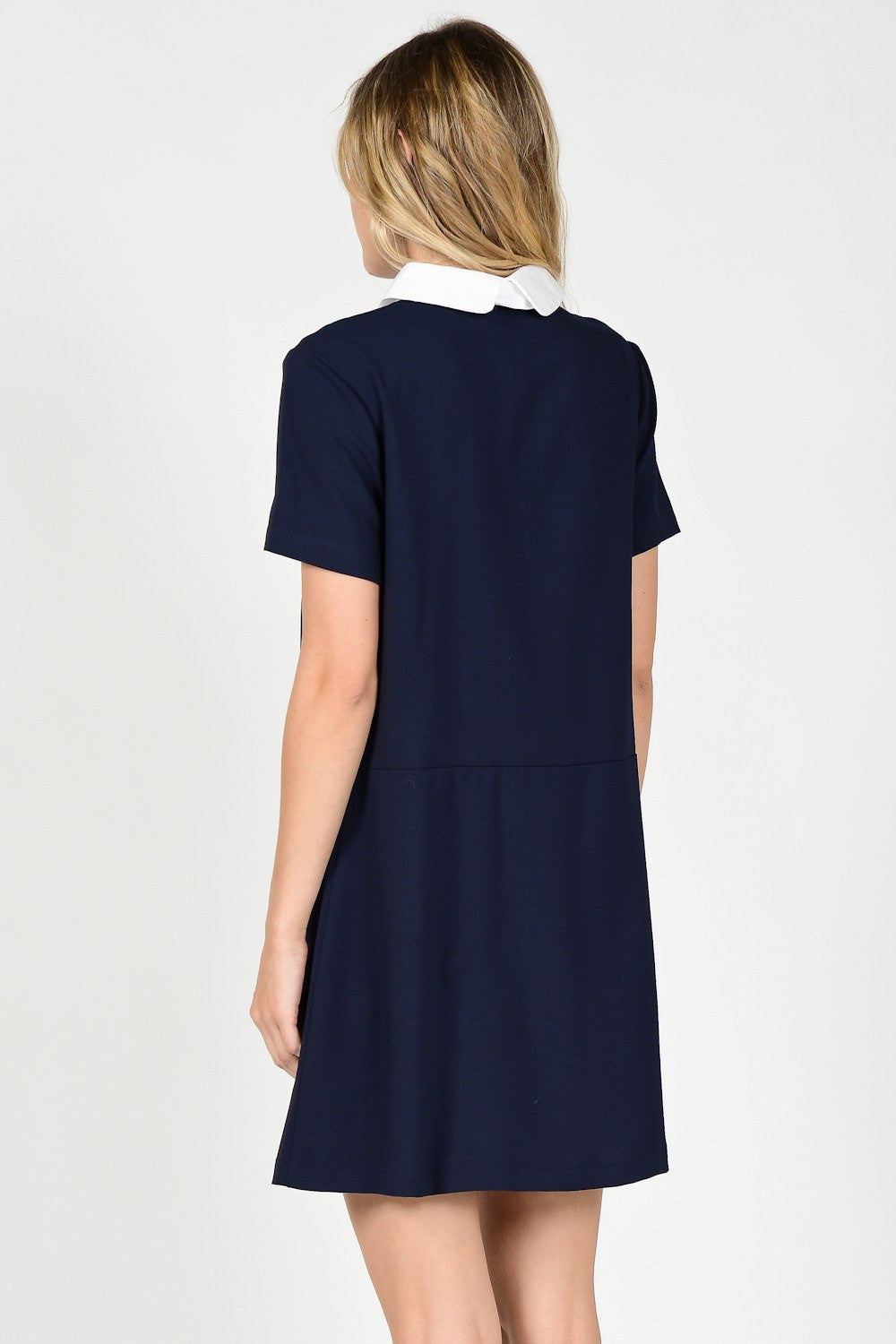 Collared Short Sleeve Dress