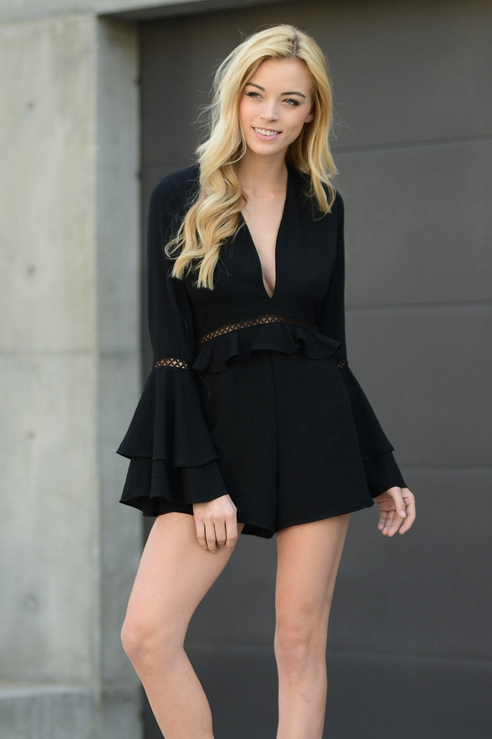 Black Angelina Romper