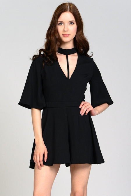 Peek-A-Boo Tie Shoulder Knit Dress