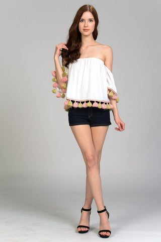 Eris Knit Top with Side Ribbon Tie
