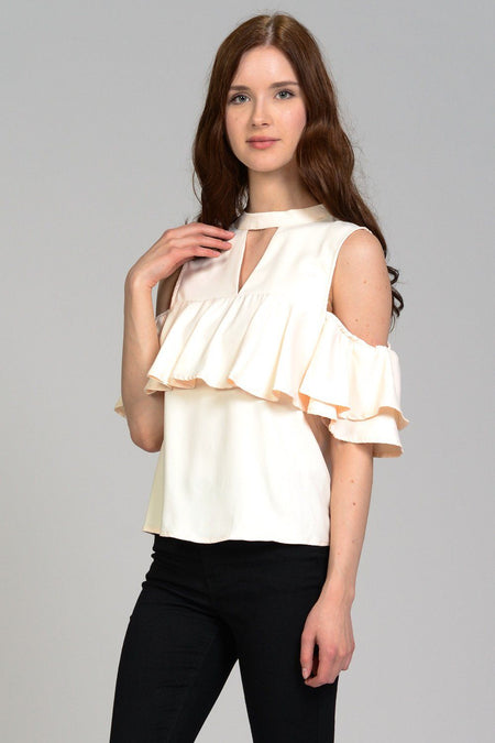 Claudia Sweater Crop Top Poplin Shirt