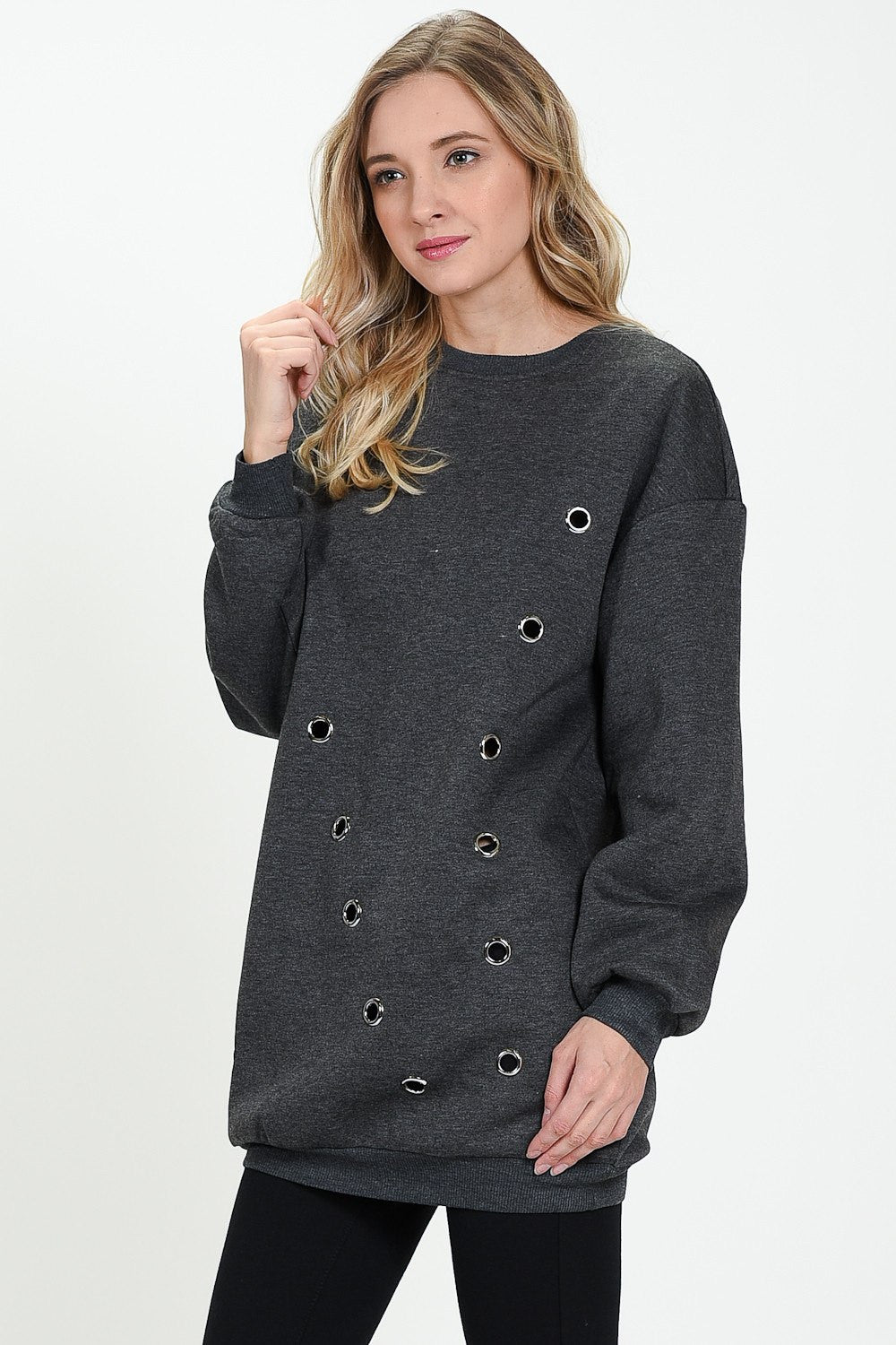 GREY RING AMY SWEATER