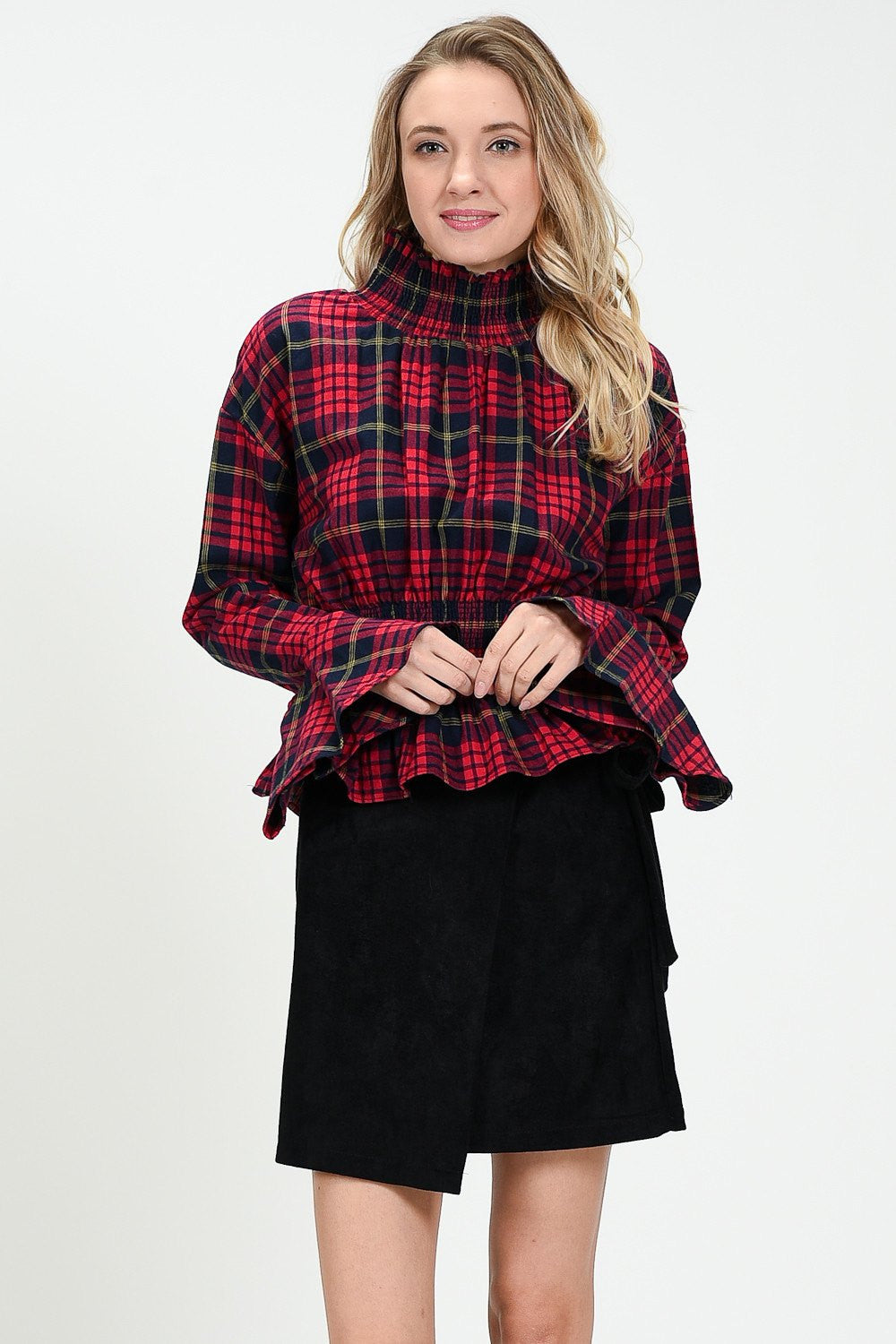 Posh Punk Tartan Blouse by Sister Jane