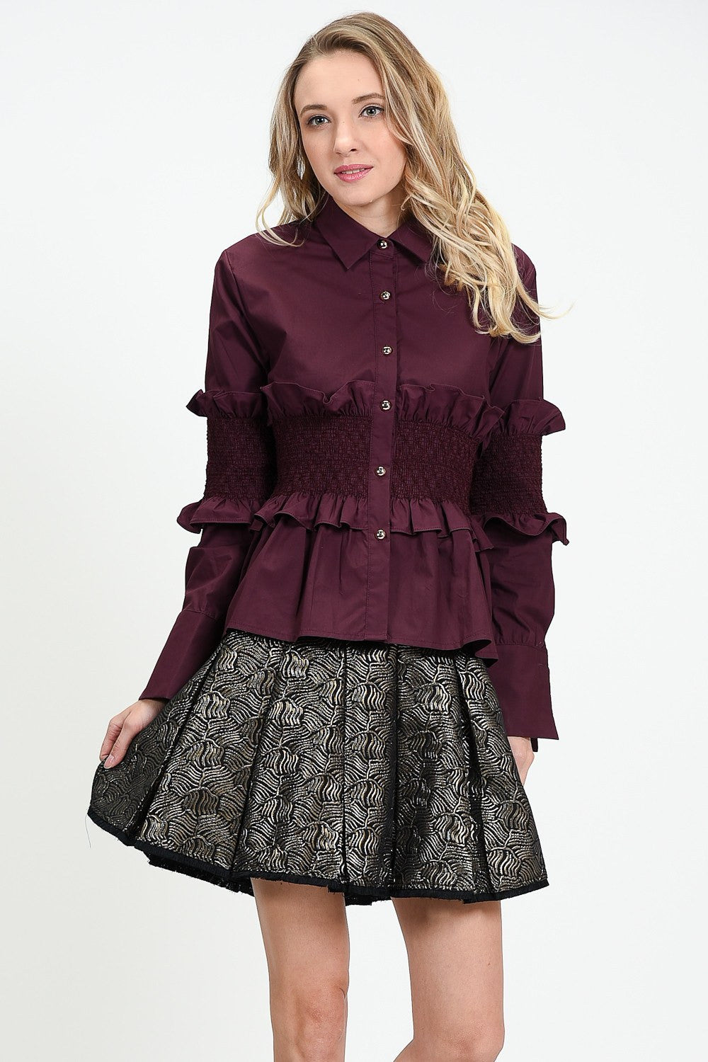 Ex-Lover Smocked Blouse by Sister Jane