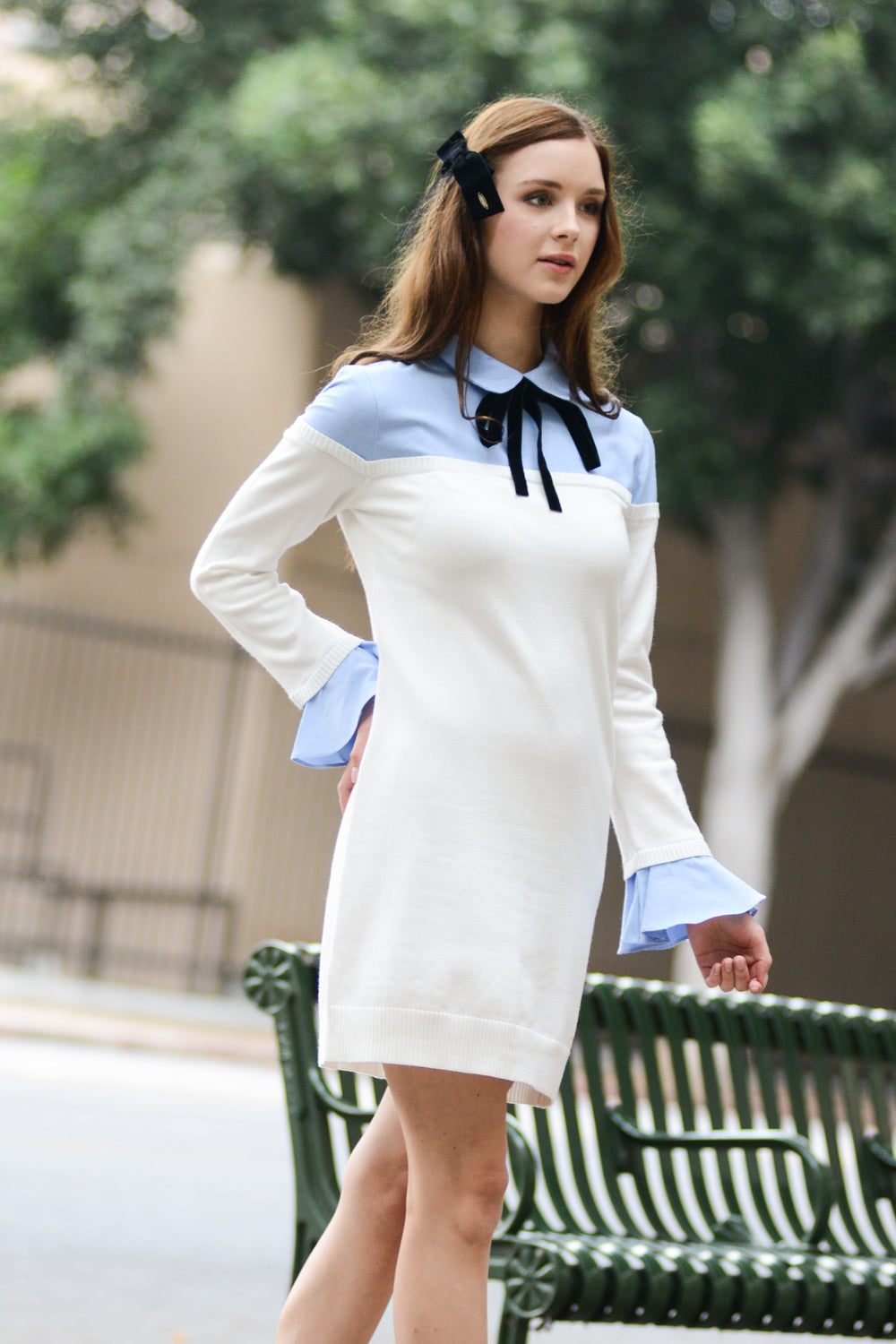 Oxford Combo Knit Dress