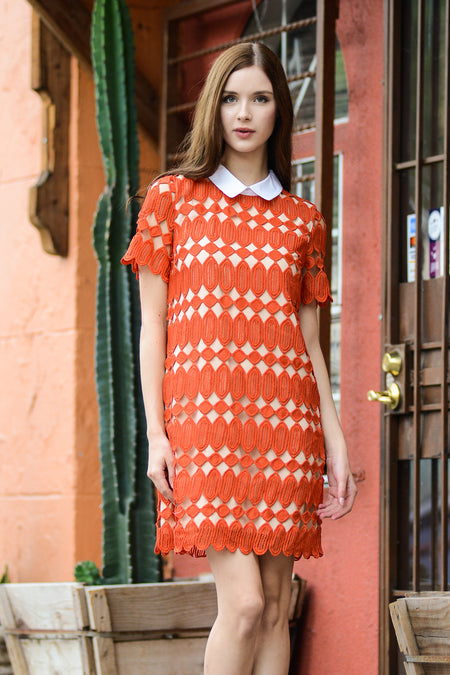 Cold Shoulder Cactus Print Dress