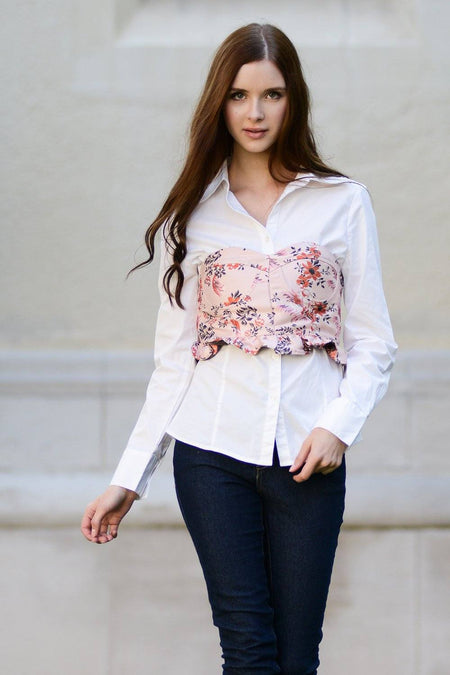 Rose Embroider Denim Dress