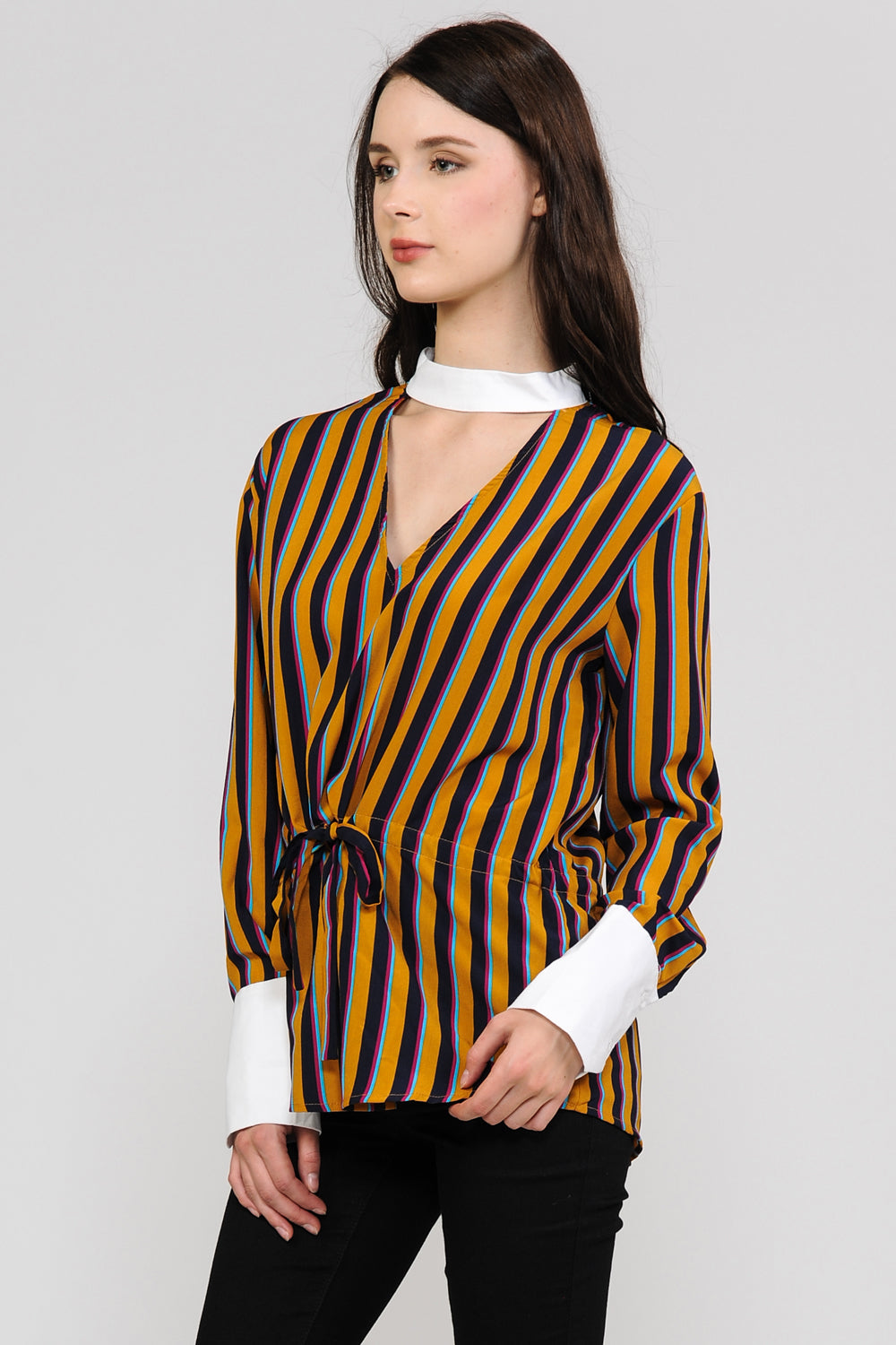 Stripes Choker Shirt