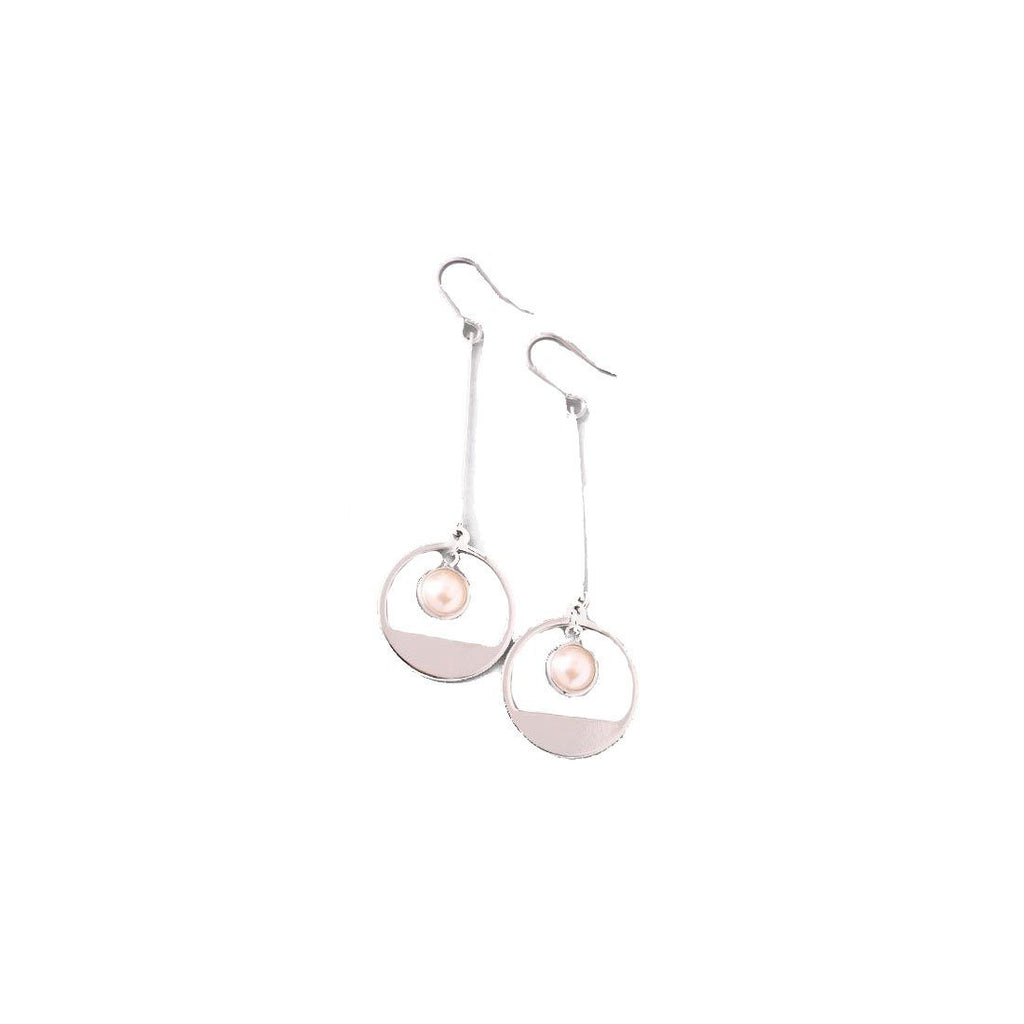 Hoop & Pearl Earrings