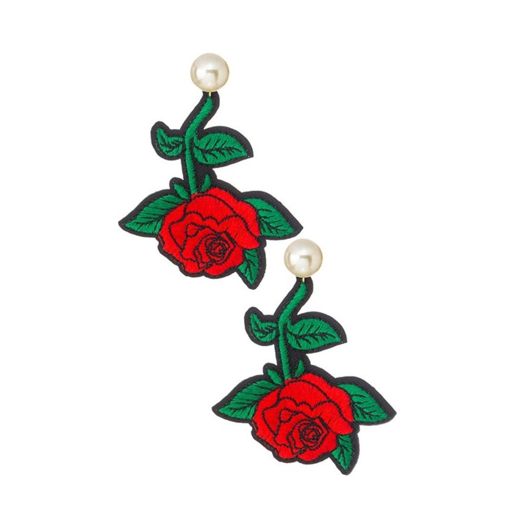 Rose Patch Earrings