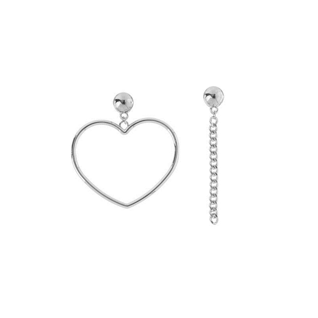Heart & Chain Earrings
