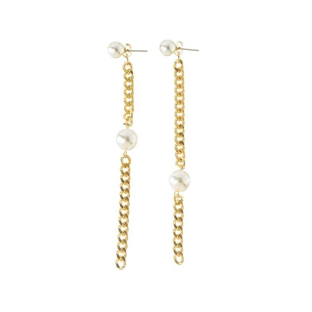 Pearl & Chain Earrings