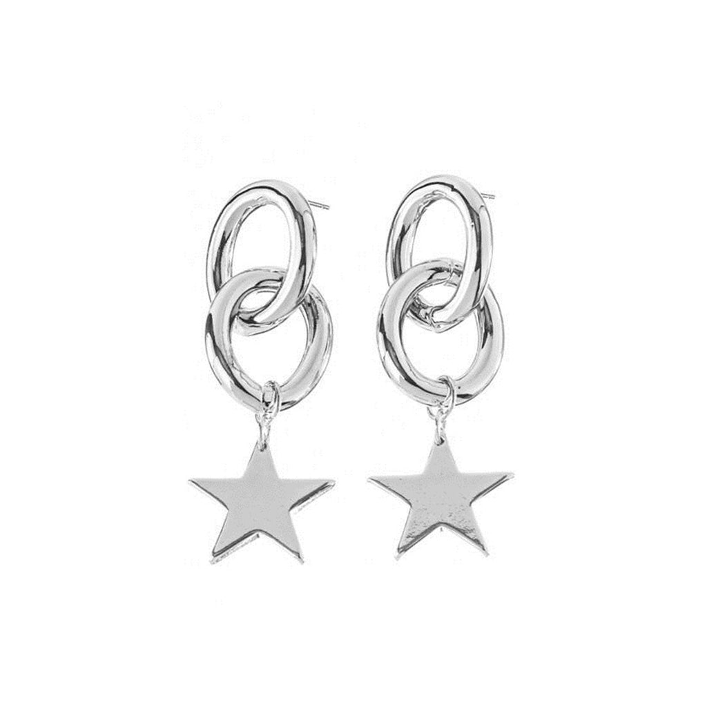 Hoop & Star Earrings