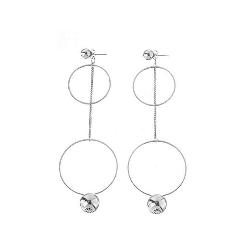 Hoop & Bead Earrings