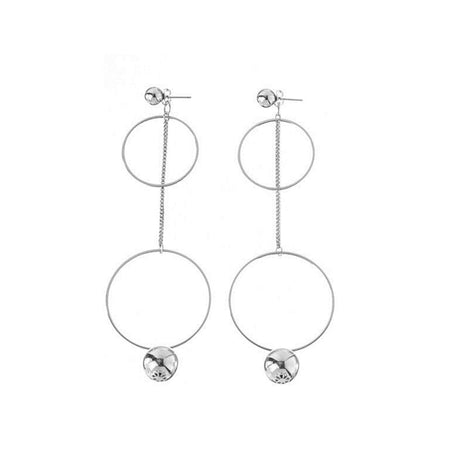 Hoop & Chain Dangle Earrings