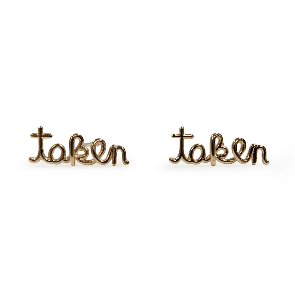 """Taken"" Earrings"