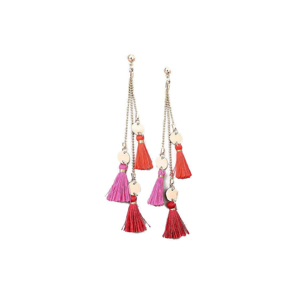 Multi Tassels Earrings