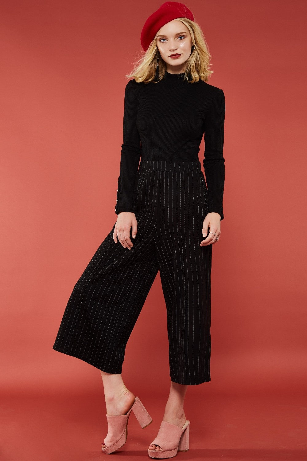 Multi Stripes Crop Pants
