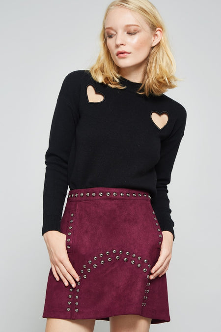 Duo Hearts Sweater Top