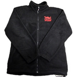 Unisex UTLA Black Fleece Front Zip