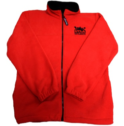 Unisex UTLA Red Fleece Front Zip