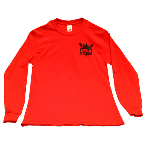Unisex long sleeve t-shirt red