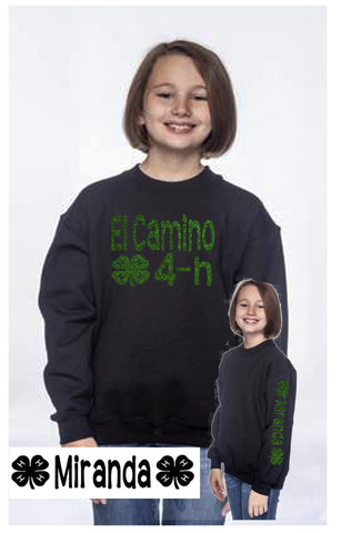 4H Youth Crew Neck Sweatshirt - J and D Gifts
