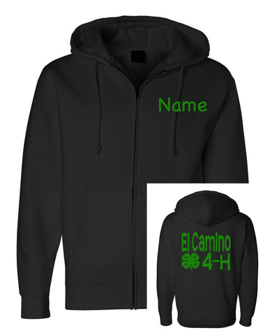 4H Youth or Adult Zip Up - J and D Gifts
