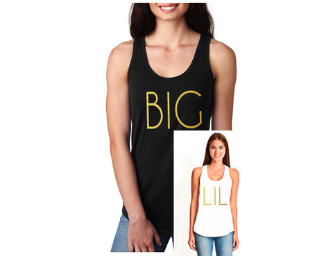 Big or Lil Sorority Racerback Tank 2 - J and D Gifts