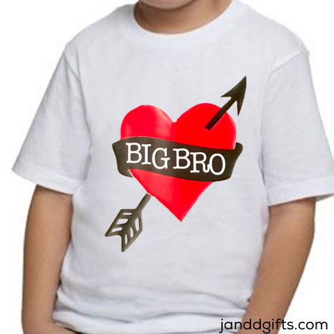 Big Brother Valentine's Day Shirt or Onesie - J and D Gifts