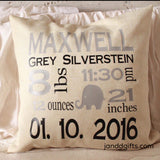 Birth Announcement Pillowcase (Girl) - J and D Gifts