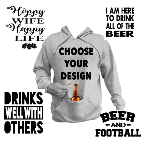 Built in Coozie Hoodie - J and D Gifts