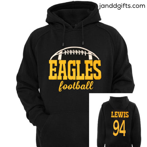 Custom Football Sweatshirt - J and D Gifts