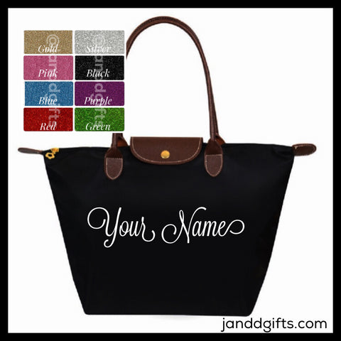 Custom Black Nylon Tote Bag - J and D Gifts