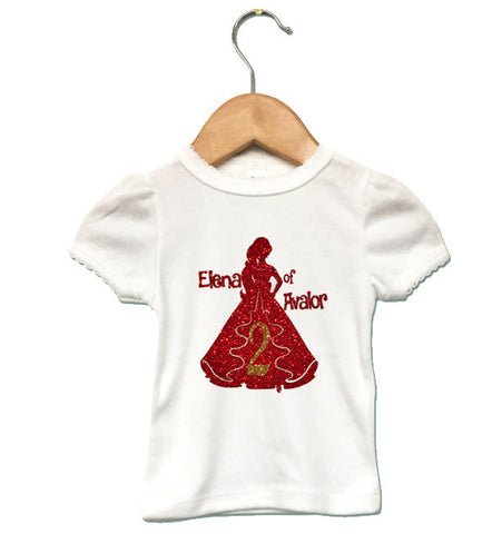 CUSTOMIZE the age: Elena of Avalor Girl Shirt or Onesie