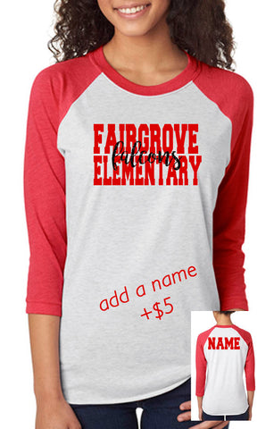 Fairgrove School Spirit Shirt- ADULT - J and D Gifts