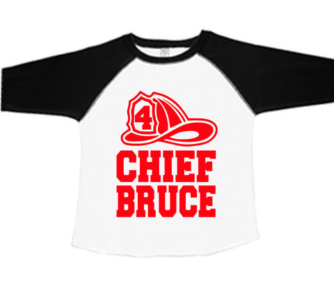 Fire Man Birthday Baseball Tee