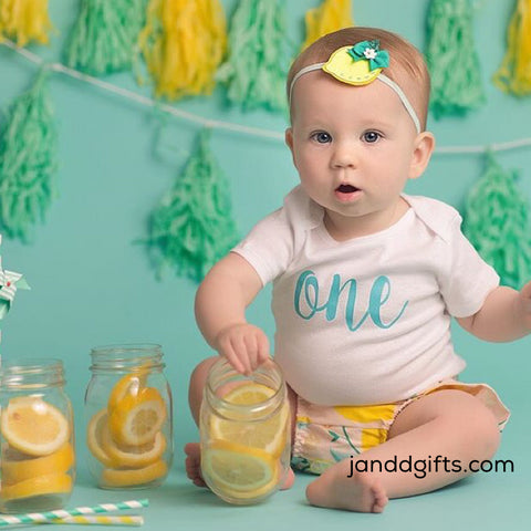 "First Birthday ""One"" (Non Glitter) Onesie - J and D Gifts"