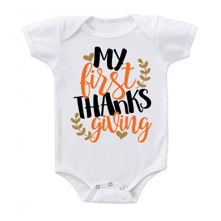 My First Thanksgiving Onesie - J and D Gifts