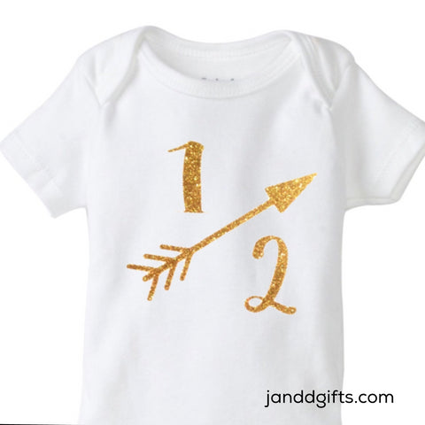 Half Birthday Onesie - J and D Gifts