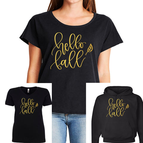 Hello Fall Shirt or Hoodie - J and D Gifts
