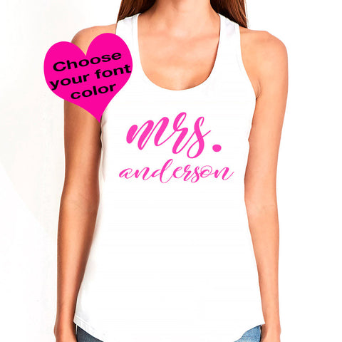 Mrs. Tank Top 6 - J and D Gifts