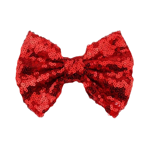 Red Sequin Bow - J and D Gifts