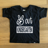 Peace Out ____. Custom School Shirt - J and D Gifts
