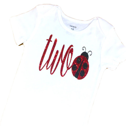 Ladybug Second Birthday Onesie or Shirt - J and D Gifts